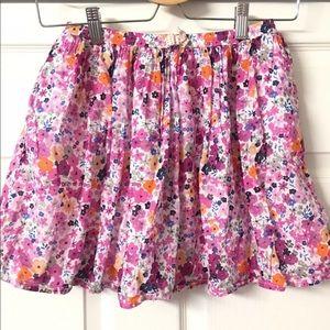 Joe Fresh Pink Floral Skirt Size XL 14